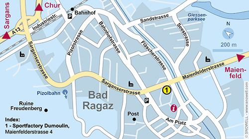 Resort Map Bad Ragaz