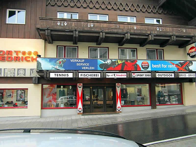 Ski hire shop SPORT 2000 Friedrich, Marktstrasse 3 in St. Michael