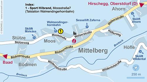 Resort Map Kleinwalsertal - Mittelberg