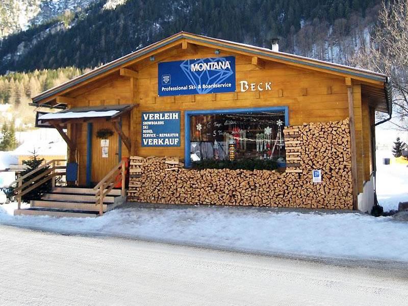 Ski hire shop Skiverleih Beck in Mühledörfle 85, Brand