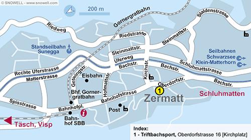 Resort Map Zermatt
