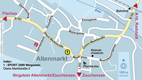 Resort Map Altenmarkt