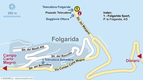 Resort Map Folgarida