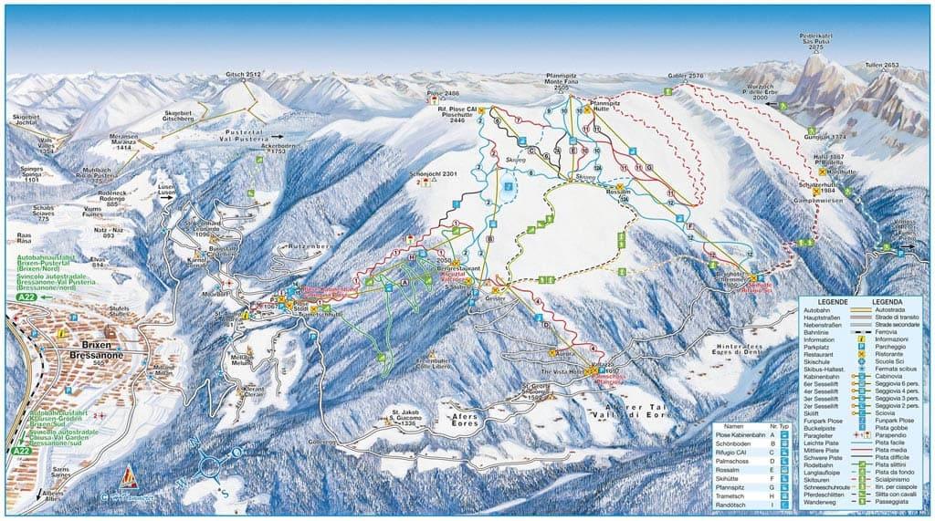 Skimap Brixen