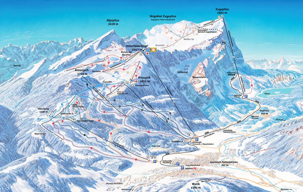Ski resort Garmisch-Partenkirchen