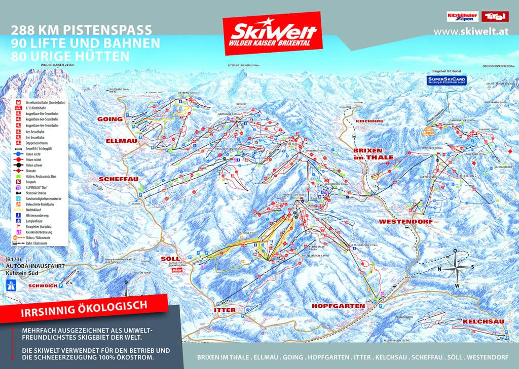 Skimap Hopfgarten im Brixental