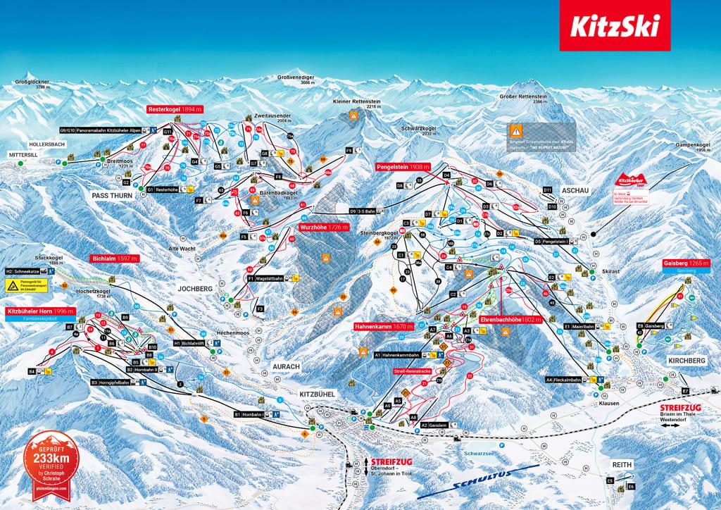 Skimap Kirchberg i. Tirol