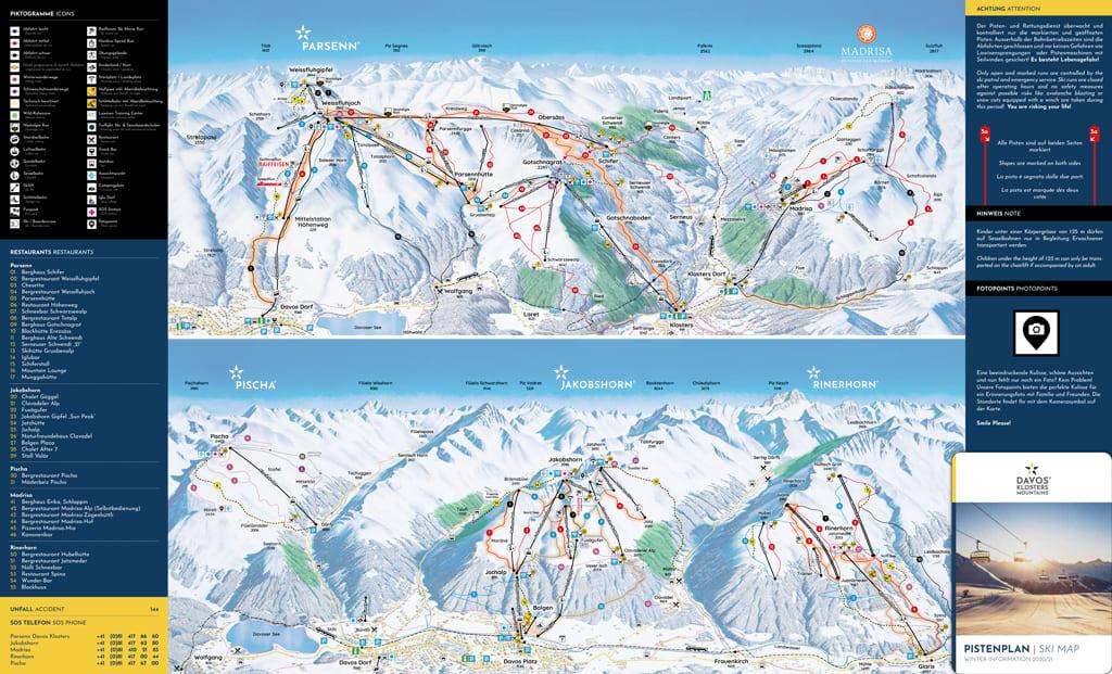 Skimap Klosters