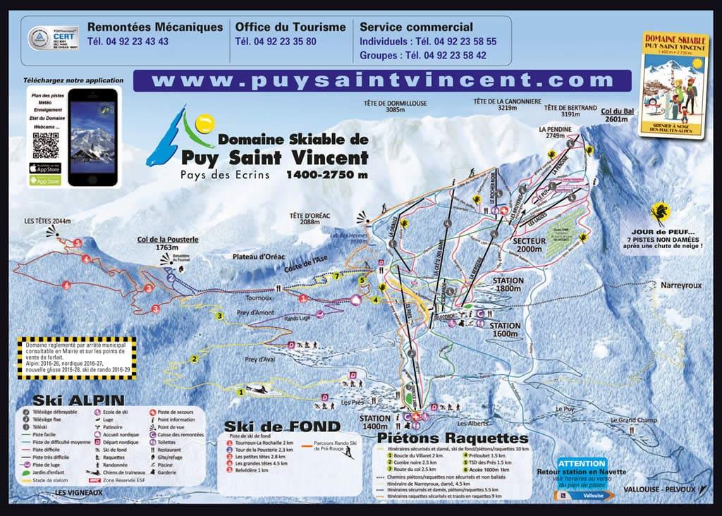 Ski resort Puy Saint Vincent 1600
