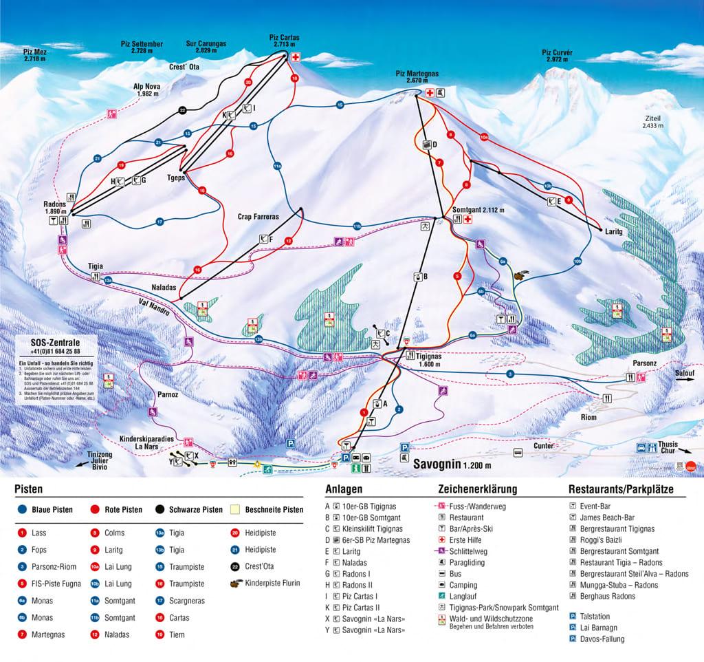 Ski resort Savognin