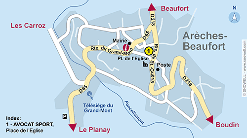 Resort Map Areches Beaufort