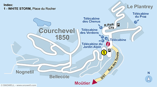 Resort Map Courchevel 1850