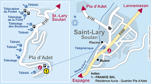 Resort Map Saint Lary