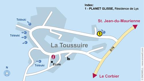 Resort Map La Toussuire