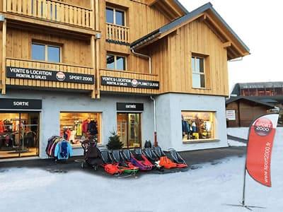 Ski hire shop PLANET GLISSE, La Toussuire in Résidence de lys