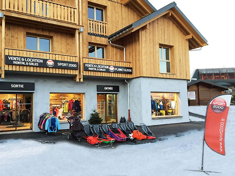 Ski hire shop PLANET GLISSE, La Toussuire in Résidence de lys