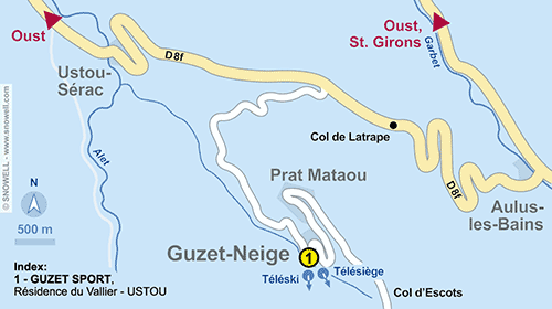 Resort Map Guzet Neige