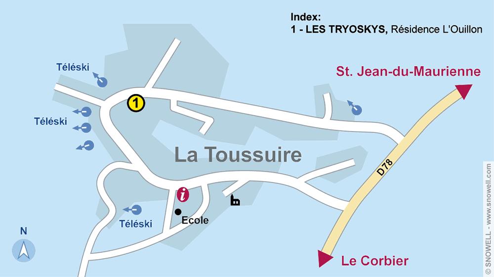 Ski hire shop LES TRYOSKYS, La Toussuire in Résidence L'Ouillon