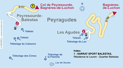 Resort Map Peyragudes