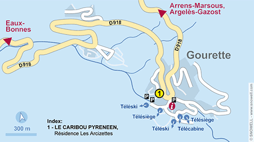 Resort Map Gourette