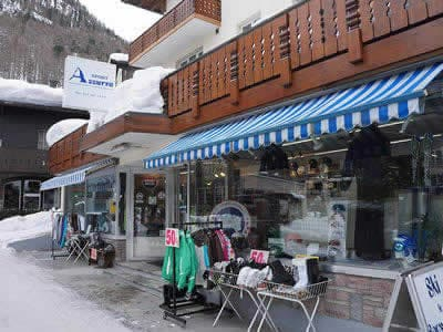 Ski hire shop SPORT 2000 Azzurra Sport, Zermatt in Riedstrasse 10