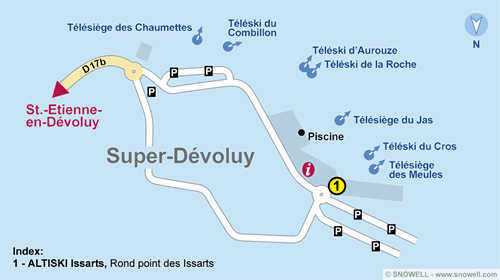 Resort Map Superdévoluy