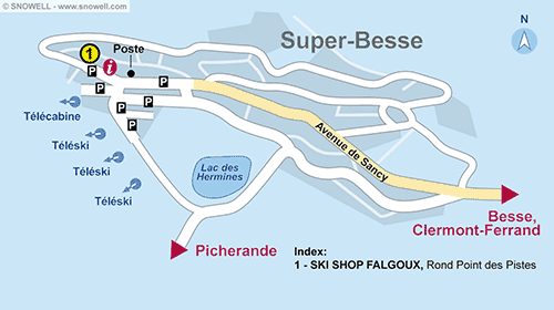 Resort Map Super Besse