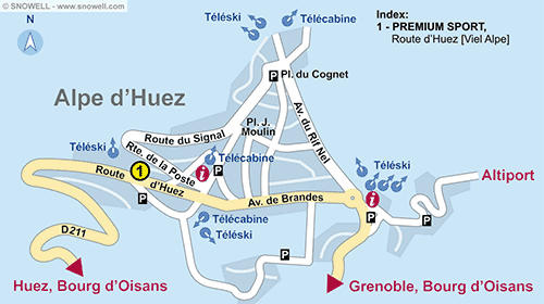 Resort Map Alpe d'Huez