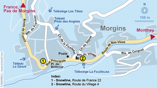 Resort Map Morgins