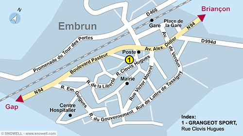 Resort Map Embrun