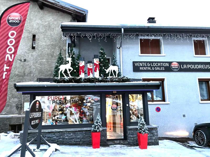 Ski hire shop LA POUDREUSE, Lanslevillard Val Cenis in Rue des Rochers