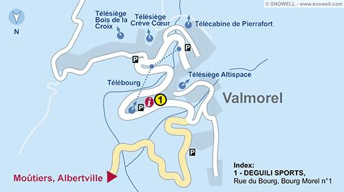 Resort Map Valmorel