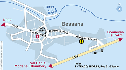 Resort Map Bessans