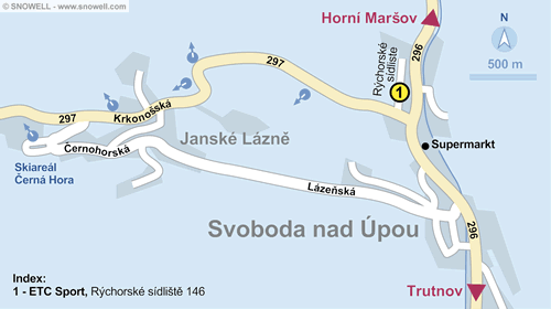 Resort Map Svoboda nad Upou