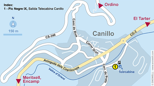 Resort Map Canillo