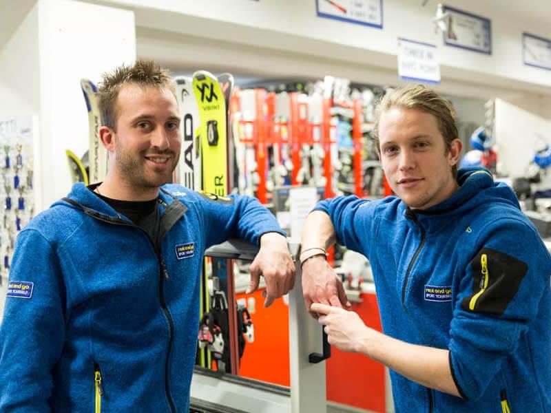 Ski hire shop Rent and Go, Stazione a monte Funivia al Bernina in Chiesa Valmalenco