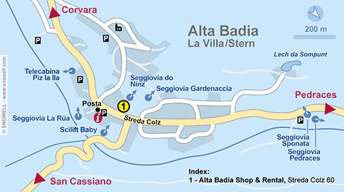 Resort Map Alta Badia-La Villa/Stern