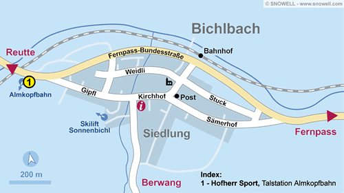 Resort Map Bichlbach