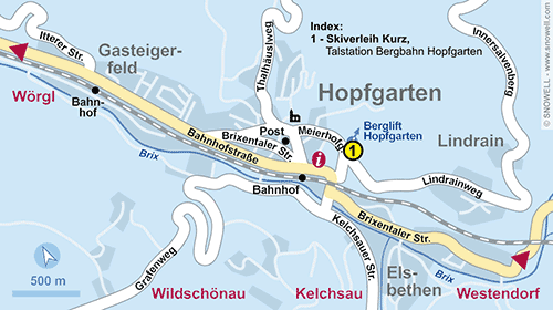 Resort Map Hopfgarten im Brixental