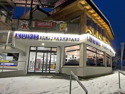 Ski hire shop Skiverleih Kurz, Hopfgarten im Brixental in Talstation Bergbahn Hopfgarten