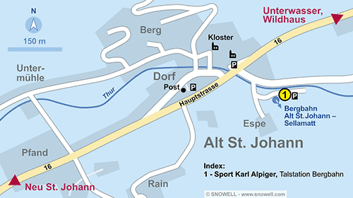 Resort Map Alt St. Johann