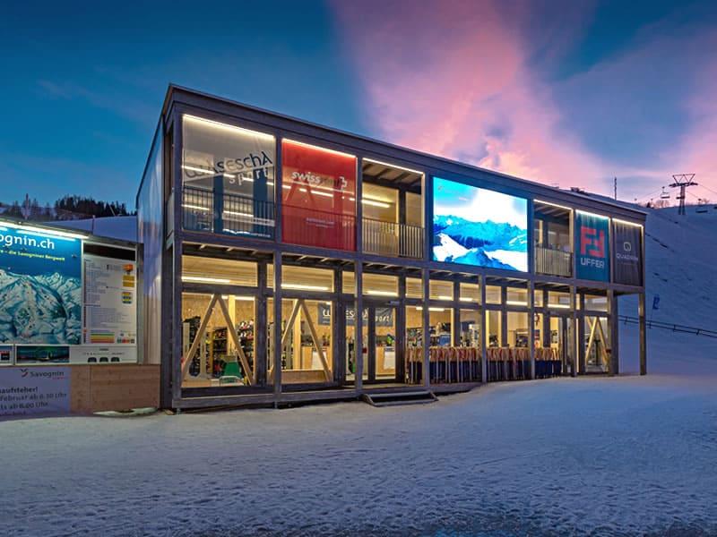 Ski hire shop Wasescha Sport Rent in Talstation Bergbahnen, Savognin