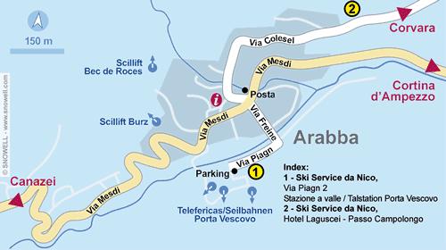Resort Map Arabba