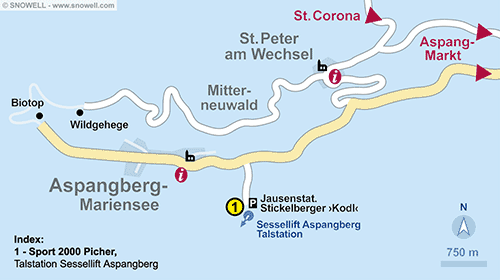 Resort Map Aspangberg - St. Peter