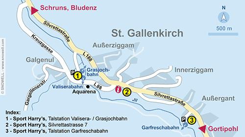 Resort Map St. Gallenkirch
