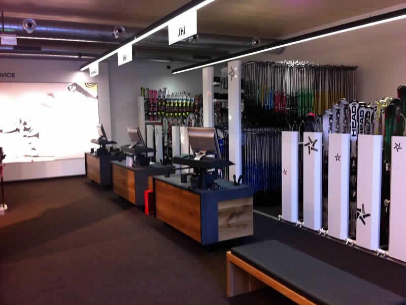 Ski hire shop Sport Harry's, Talstation Valisera Grasjochbahn in St. Gallenkirch