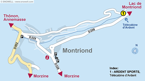 Resort Map Montriond