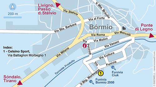 Resort Map Bormio