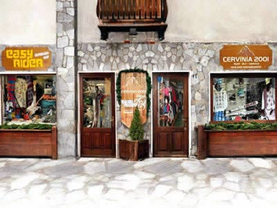 Ski hire shop Cervinia 2001, Breuil Cervinia in Via Carrel, 11