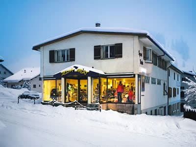 Ski hire shop Testa Sport, Celerina in Via Maistra 49